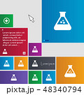 chemistry icon sign. buttons. Modern interface web 48340794