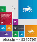 Motorbike icon sign. buttons. Modern interface web 48340795