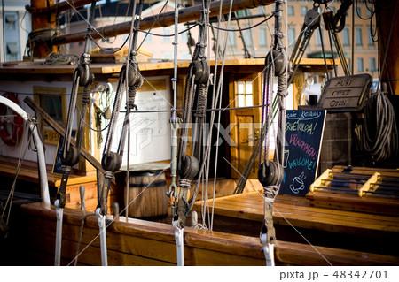 HELSINKI, FINLAND - OCTOBER 29, 2008: Old style wooden ship 48342701