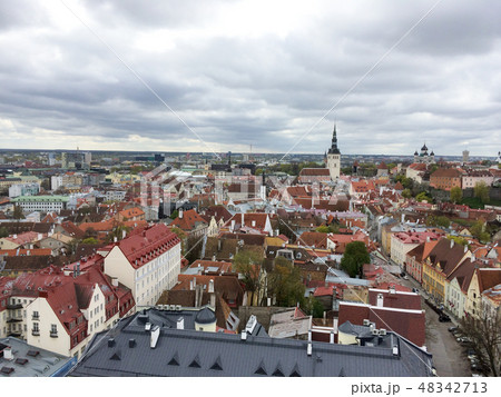 Cityscape - view on old center of european city 48342713