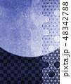 背景素材 和柄 麻の葉のイラスト 48342788