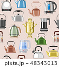 Teapot and kettle vector teakettle or samovar to drink tea on teatime and boiled coffee beverage in 48343013