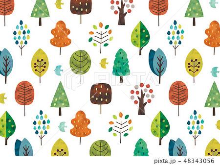 水彩の北欧の木テクスチャ 48343056