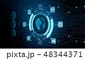 セキュリティ セキュリティー 安全のイラスト 48344371