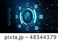 セキュリティ セキュリティー 安全のイラスト 48344379