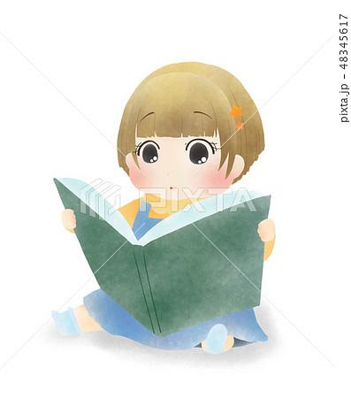 本を読む女の子 48345617
