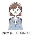 スーツ 女性 新入社員のイラスト 48346048