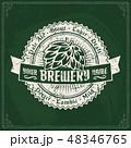 ビール ビール工場 シンボルマークのイラスト 48346765