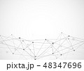 ドット すじ 線のイラスト 48347696