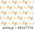 花 植物 パターンのイラスト 48347739