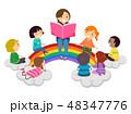キッズ 子供 読み聞かせのイラスト 48347776