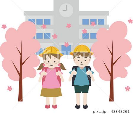 新学期 小学校 入学 48348261