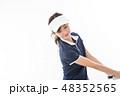 若い女性 ゴルフ 48352565