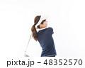 若い女性 ゴルフ 48352570