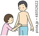 腹囲測定 48352622