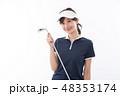 若い女性 ゴルフ 48353174