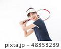 テニス 女性 大学生の写真 48353239