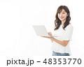 女性 ノートパソコン アジア人の写真 48353770