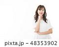 女性 アジア人 若い女性の写真 48353902