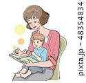 絵本 読み聞かせ 育児のイラスト 48354834