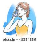 飲む 水 水分補給のイラスト 48354836