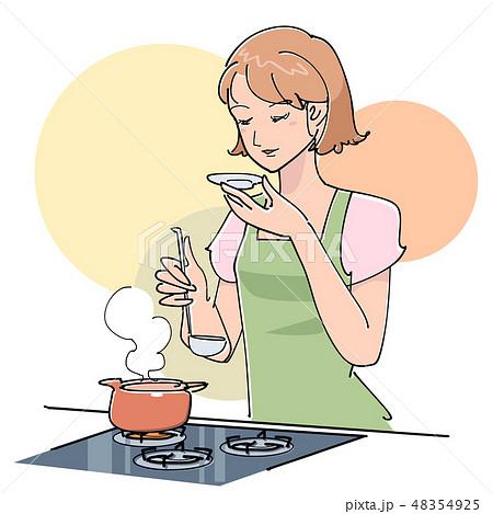料理の味見 48354925