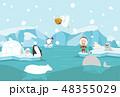 北極 ぺんぎん ペンギンのイラスト 48355029
