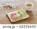 団子 和菓子 三色団子の写真 48356445