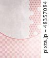 和柄 麻の葉 背景素材のイラスト 48357084