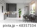 キッチン 厨房 台所のイラスト 48357334
