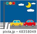 車 自動車 運転 信号機 信号 48358049