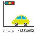車 自動車 運転 信号機 信号 48358052