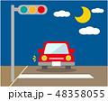 車 自動車 運転 信号機 信号 48358055
