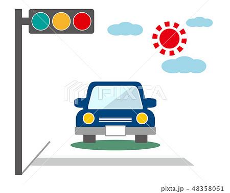 車 自動車 運転 信号機 信号 48358061