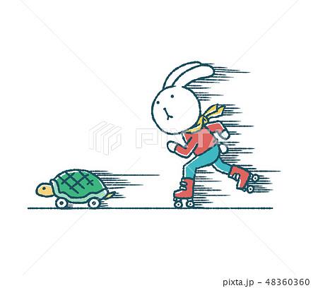 ゆるいうさぎとかめのローラースケート 48360360