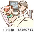 女性 医師 妊婦のイラスト 48360743