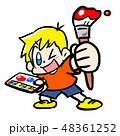子供 小学生 男の子のイラスト 48361252