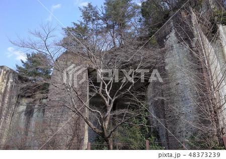 地下の採石場跡、石切り場跡、歴史的、栃木県宇都宮市、大谷公園、大谷資料館 48373239