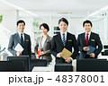 ビジネスマン ビジネスウーマン 会社員の写真 48378001