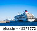 大さん橋 船 客船の写真 48378772