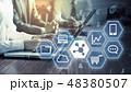 ビジネス サイバー ビッグデータの写真 48380507