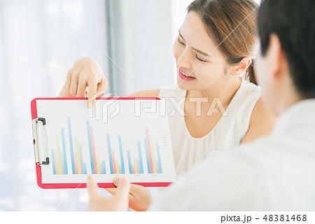 男女 ビジネス  48381468