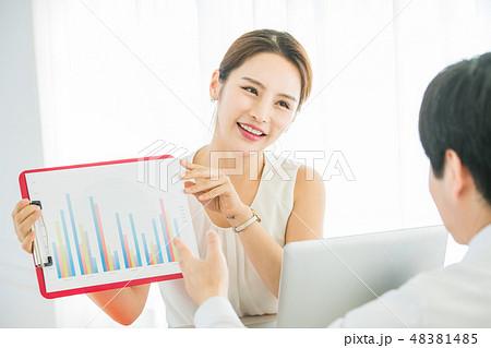 男女 ビジネス  48381485