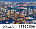 夜景 福岡市 都市風景の写真 48382609