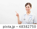 笑顔の若い看護師 48382750