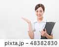笑顔の若い看護師 48382830