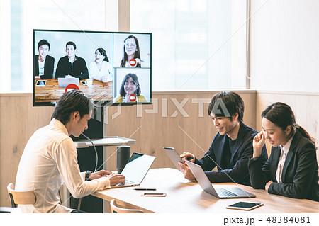 ビジネス ネットミーティング 48384081