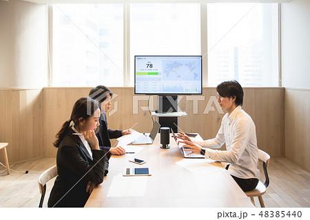 ビジネス ミーティング 大画面 48385440