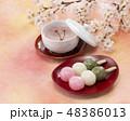 花見団子 桜 桜茶 48386013