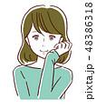 女性 若い 笑顔のイラスト 48386318